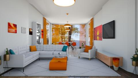 orange and white  - Modern - Living room  - by martinini