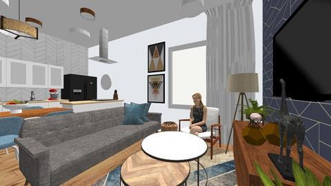 PROJ1 - Modern - Living room  - by luanasantos_