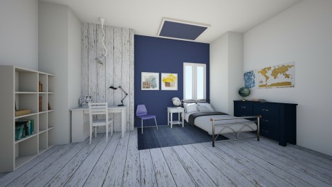 Navy Bedroom - Bedroom  - by Sunny Bunny