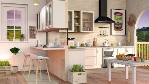 Modern Farmhouse Kitchen - Eclectic - Kitchen  - by Sally Simpson