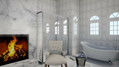 marble bathroom - Glamour - Bathroom  - by elizabethhaag