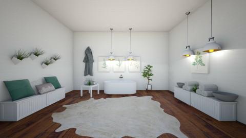Spa Room - Minimal - Bathroom - by artist4568