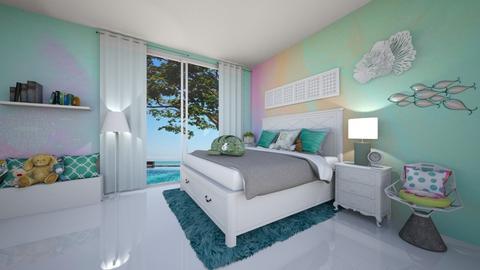 Modern playful bedroom - Bedroom - by ashpashly