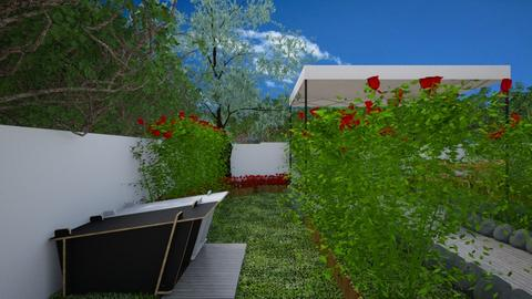 Rose Garden Doghouses - Garden  - by bettyloop
