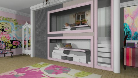 Teen Sister's Paris Room - Kids room  - by steph01mami