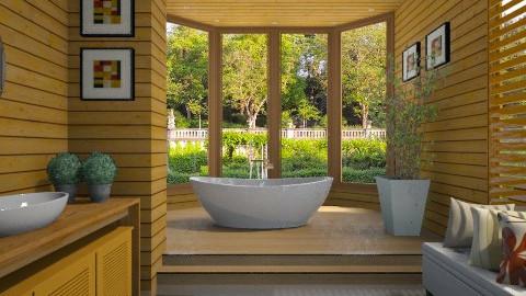 Banheiro Madeira  - Bathroom - by Sanare Sousa