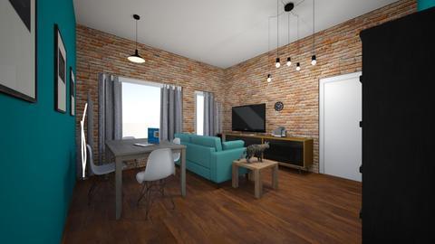 big room - Retro - Living room  - by gfx