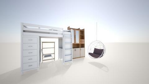 shoras room - Modern - Bedroom  - by hiccuptaco