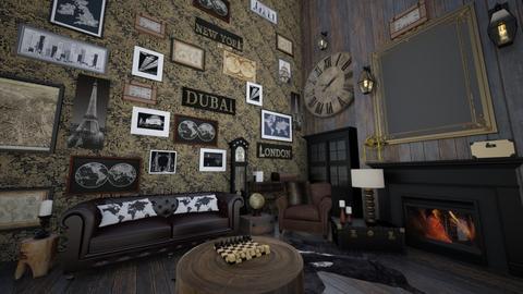 Rustic Travel room - Living room  - by hmm22