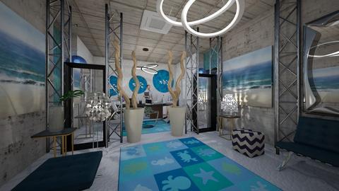 Office_Modern_Sea_Blue_Creation_ - Modern - Office - by Nikos Tsokos