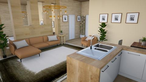Studio Apartment 2 - Rustic - Living room  - by millerfam