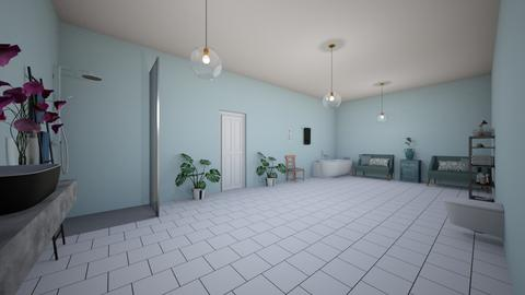 teal bathroom - Modern - Bathroom  - by aschaper