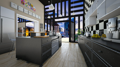 Kitchen_02 - Modern - Kitchen - by evahassing