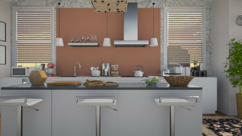 Kitchen for Three - Modern - Kitchen  - by cheyjordan
