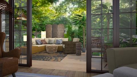 patio  tropical - by deemuri_co