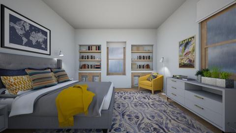 Rainy Day Bedroom  - Bedroom  - by amyskouson