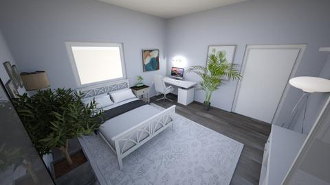 Grey room - Bedroom  - by Mohammed AlAwami
