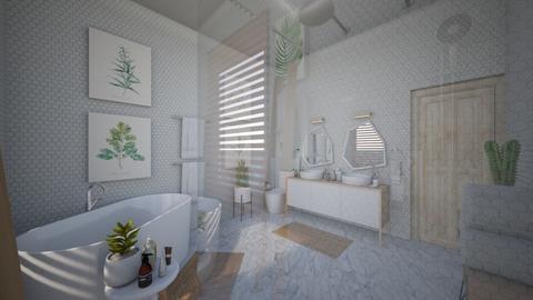 Calm Studio Bath View6 - Modern - Bathroom  - by musicdesign22