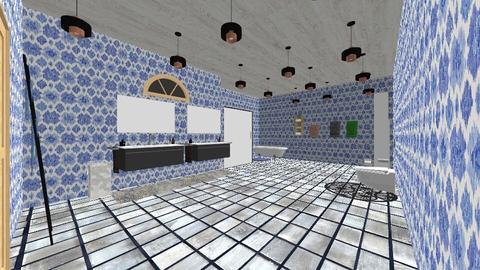 Blue bath - Bathroom  - by Sonnet