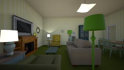 Vintage Green - Living room  - by mspence03