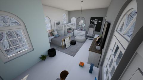 Shared girls room - Modern - Bedroom  - by Chayjerad