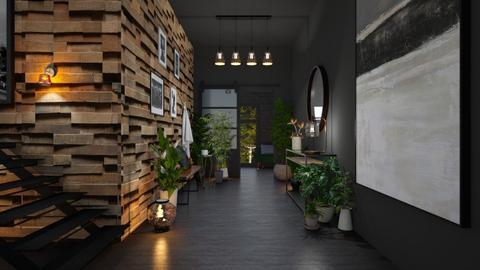 Urban jungle hallway - by euodia