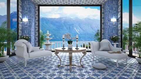 Lago di Garda Villa - Living room  - by lydiaenderlebell