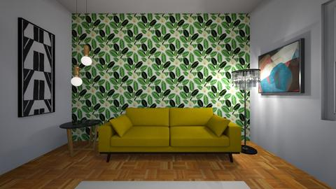 sala com papel de parede - Living room  - by bruna matos