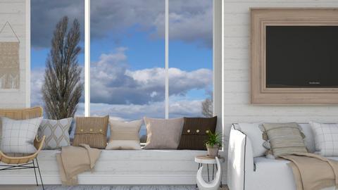 Bohemian Window Seat - Living room  - by KittyKat28