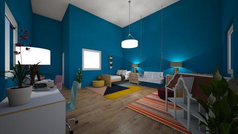 Twins Playish Bedroom - Modern - Kids room - by CitrusSunrise