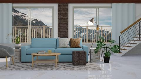 Alpine Blue - Modern - Living room  - by millerfam