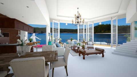 Casa de Praia - Living room  - by Roberta Coelho