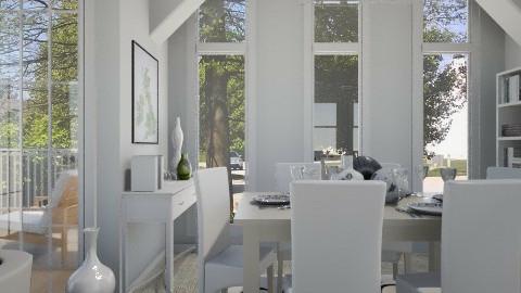 W H I T E - Classic - Dining room  - by cheyjordan