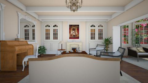 Colonial - Eclectic - Living room  - by mrschicken