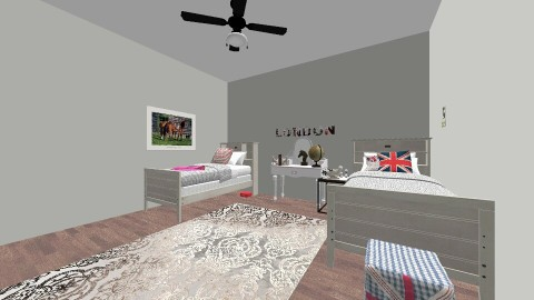 Twin Girls Bedrooms  - Vintage - Kids room - by lawrence004
