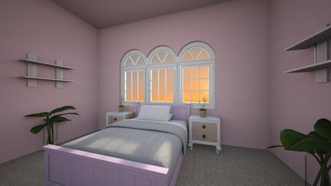 pink room - Bedroom  - by Darke