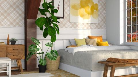 Autumn Pattern - Modern - Bedroom  - by millerfam