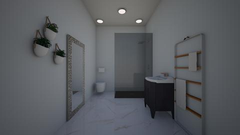 White bathroom - Modern - Bathroom  - by Agamanta