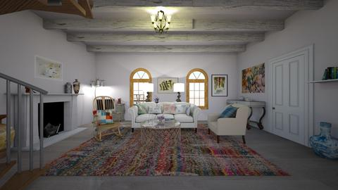 damsel in distress - Retro - Living room  - by Charlotte Aliceee