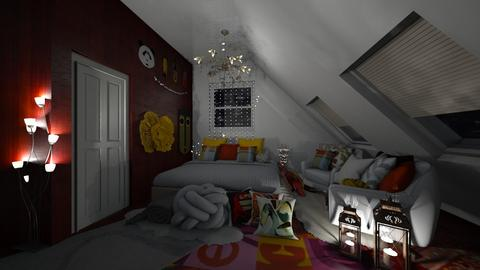 Attic Bedroom - Bedroom  - by Hazelnut10