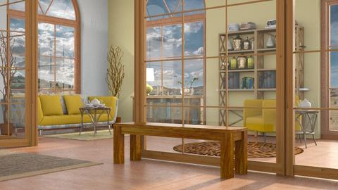 Remixed Yellow_Sofa - Rustic - Living room - by millerfam