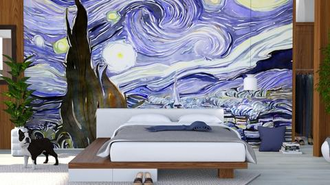 Starry Night - Bedroom - by ArtHousedeco