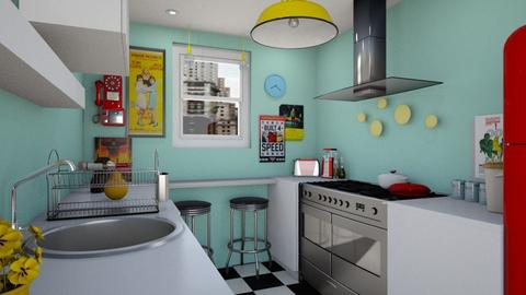 Small Playfull kitchen - Kitchen - by Farah Kh