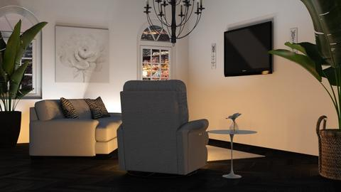 black and white - Living room  - by luna selvaggia