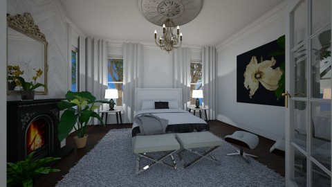 white bedroom - by alice1995
