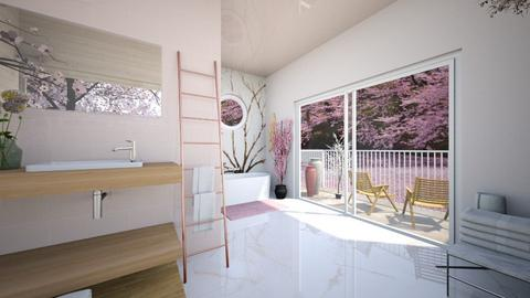 Cherry Blossom Bathroom - Bathroom  - by iope