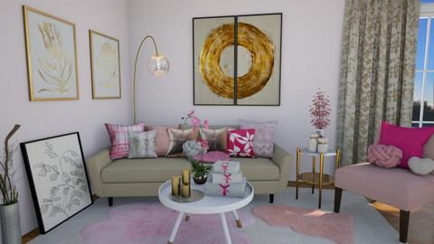 Relax in pink corner - Modern - Living room - by Nina Colin