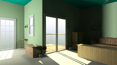 Green Room - Living room - by piyatida Miu