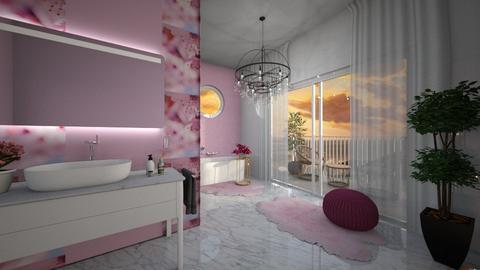 Cherry Blossom Bathroom - Bathroom  - by Sirtzuu93