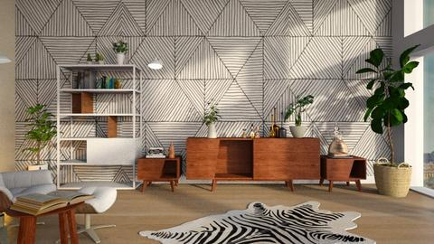 Geometric_Wall - Living room  - by ZuzanaDesign